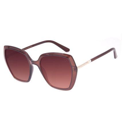 Óculos de Sol Feminino Swarovski Dia dos Namorados Degradê Marrom OC.CL.3237-5702