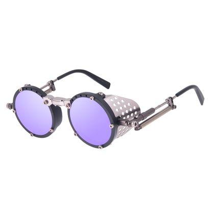 Óculos de Sol Unissex Alok Dia dos Namorados Icônico Steampunk Fashion Espelhado OC.CL.3293-3201