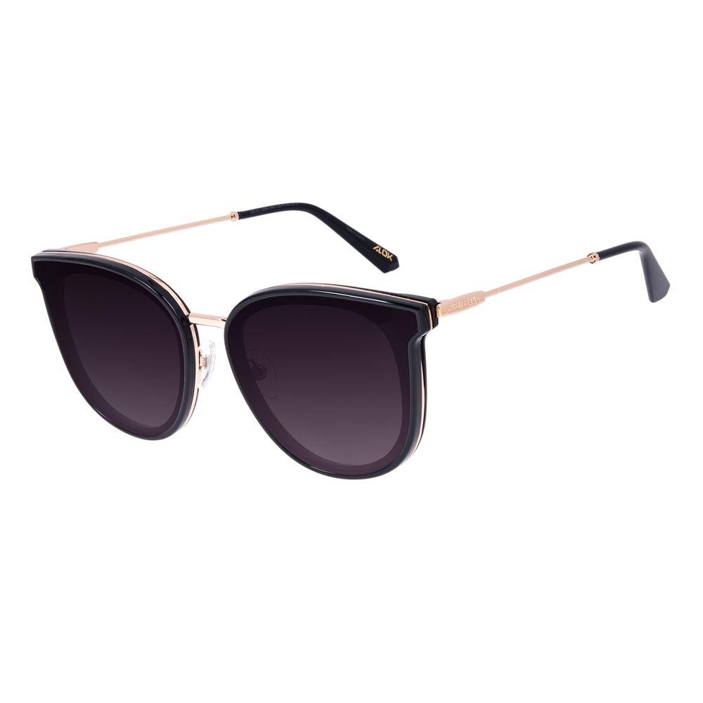 Óculos de Sol Feminino Alok Dia dos Namorados Quadrado Trend Preto OC.CL.3305-2001