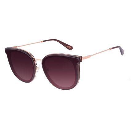 Óculos de Sol Feminino Alok Dia dos Namorados Quadrado Trend Marrom OC.CL.3305-5702