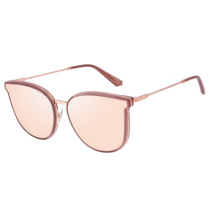 Óculos de Sol Feminino Alok Dia dos Namorados Quadrado Trend Bege OC.CL.3305-2323