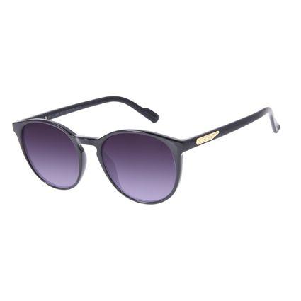 Óculos de Sol Unissex Alok Dia dos Namorados Transparent Line Preto OC.CL.2961-0101