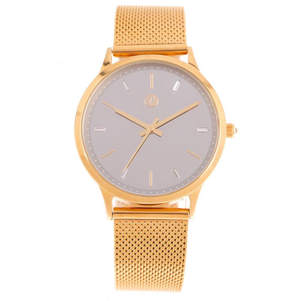 Relógio Analógico Feminino Swarovski Dia dos Namorados Minimalista Dourado RE.MT.1082-0721