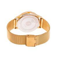 Relógio Analógico Feminino Swarovski Dia dos Namorados Minimalista Dourado RE.MT.1082-0721.2