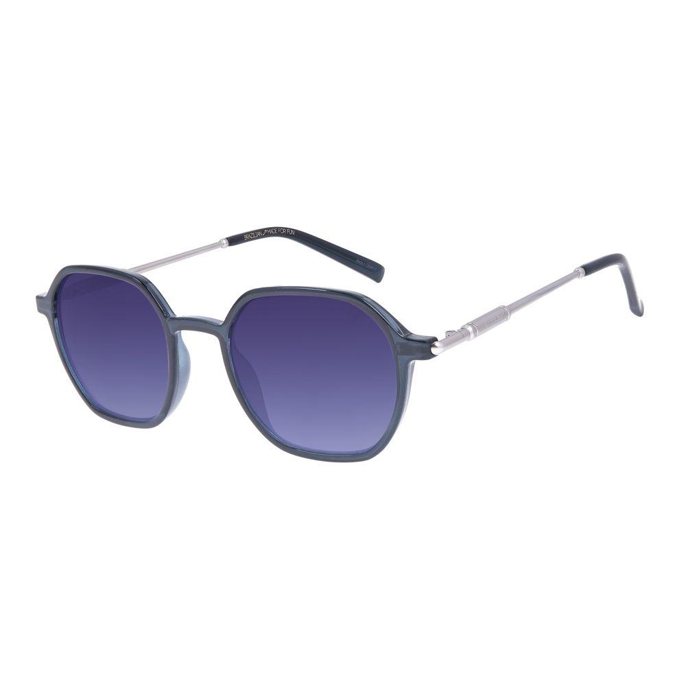Óculos De Sol Unissex Star Wars R2-D2 Redondo Degradê Azul OC.CL.3232-8308