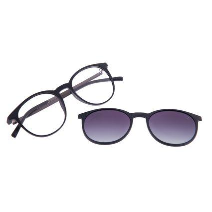 Armação Para Óculos de Grau Unissex Chilli Beans Multi Degradê Preto Polarizado LV.MU.0216-2001