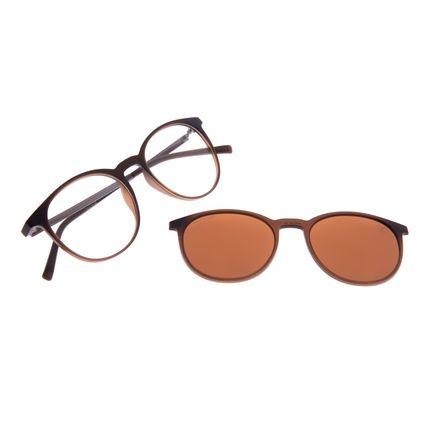 Armação Para Óculos de Grau Unissex Chilli Beans Multi Marrom Polarizado LV.MU.0216-0202