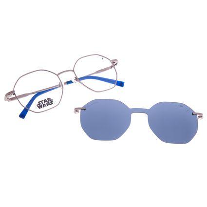 Armação para Óculos de Grau Unissex Star Wars R2-D2 Multi Polarizado Azul LV.MU.0532-0822