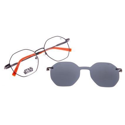Armação para Óculos de Grau Unissex Star Wars BB-8 Multi Polarizado Ônix LV.MU.0532-0522