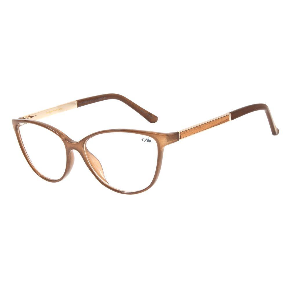 Armação Para Óculos de Grau Feminino Chilli Beans Cat Marrom LV.IJ.0154-0264