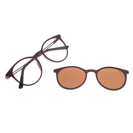 Armação Para Óculos de Grau Feminino Chilli Beans Multi Polarizado Marrom LV.MU.0188-0230