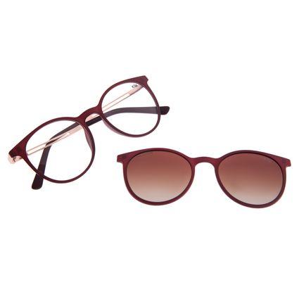 Armação Para Óculos de Grau Feminino Chilli Beans Multi Polarizado Vinho LV.MU.0188-5717