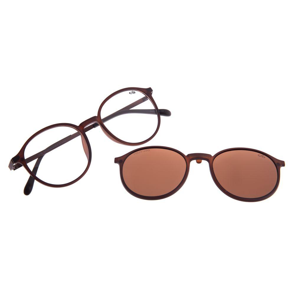 Armação Para Óculos de Grau Unissex Chilli Beans Multi Polarizado Marrom LV.MU.0342-0202