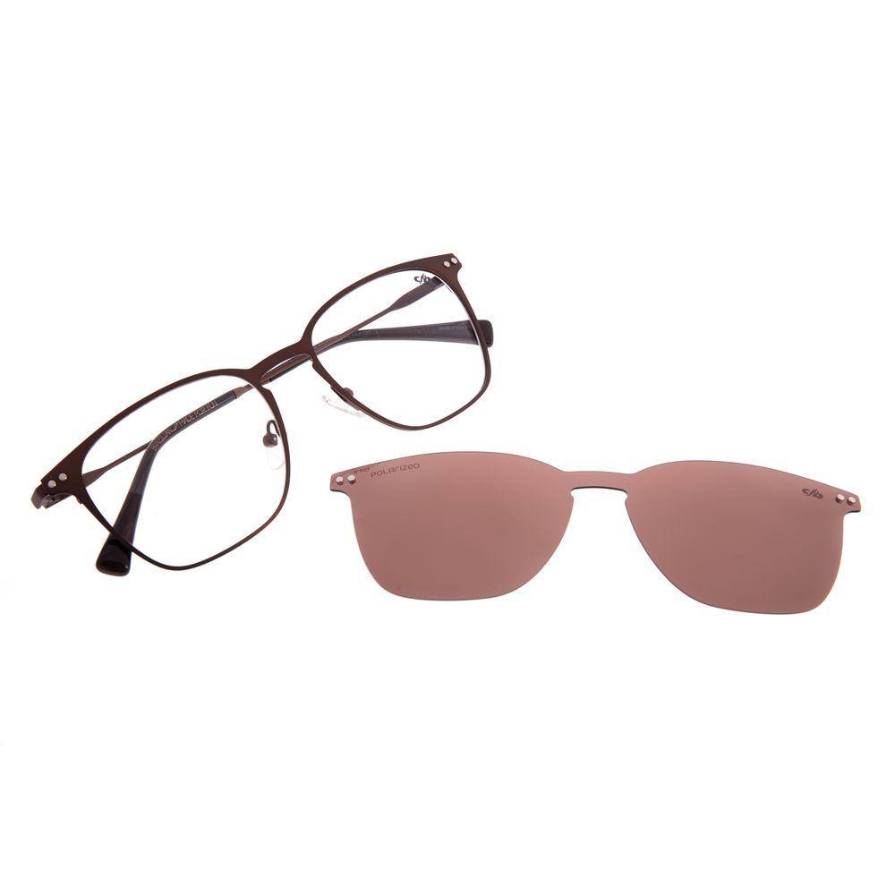 Armação Para Óculos de Grau Masculino Chilli Beans Multi Polarizado Marrom LV.MU.0479-0202