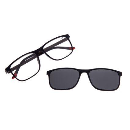 Armação Para Óculos De Grau Masculino Chilli Beans Essential Multi Polarizado Preto LV.MU.0403-0101