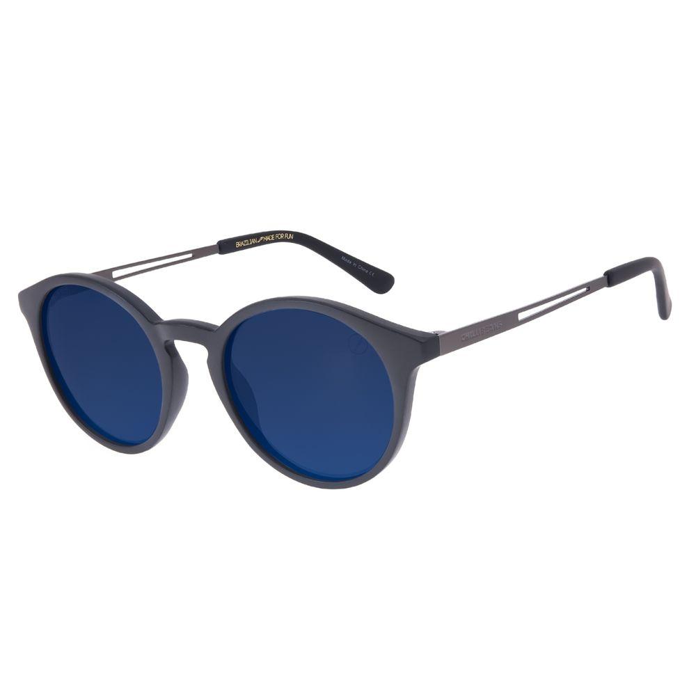 Óculos de Sol Unissex Chilli Beans Redondo Azul Escuro Polarizado OC.CL.3239-9001