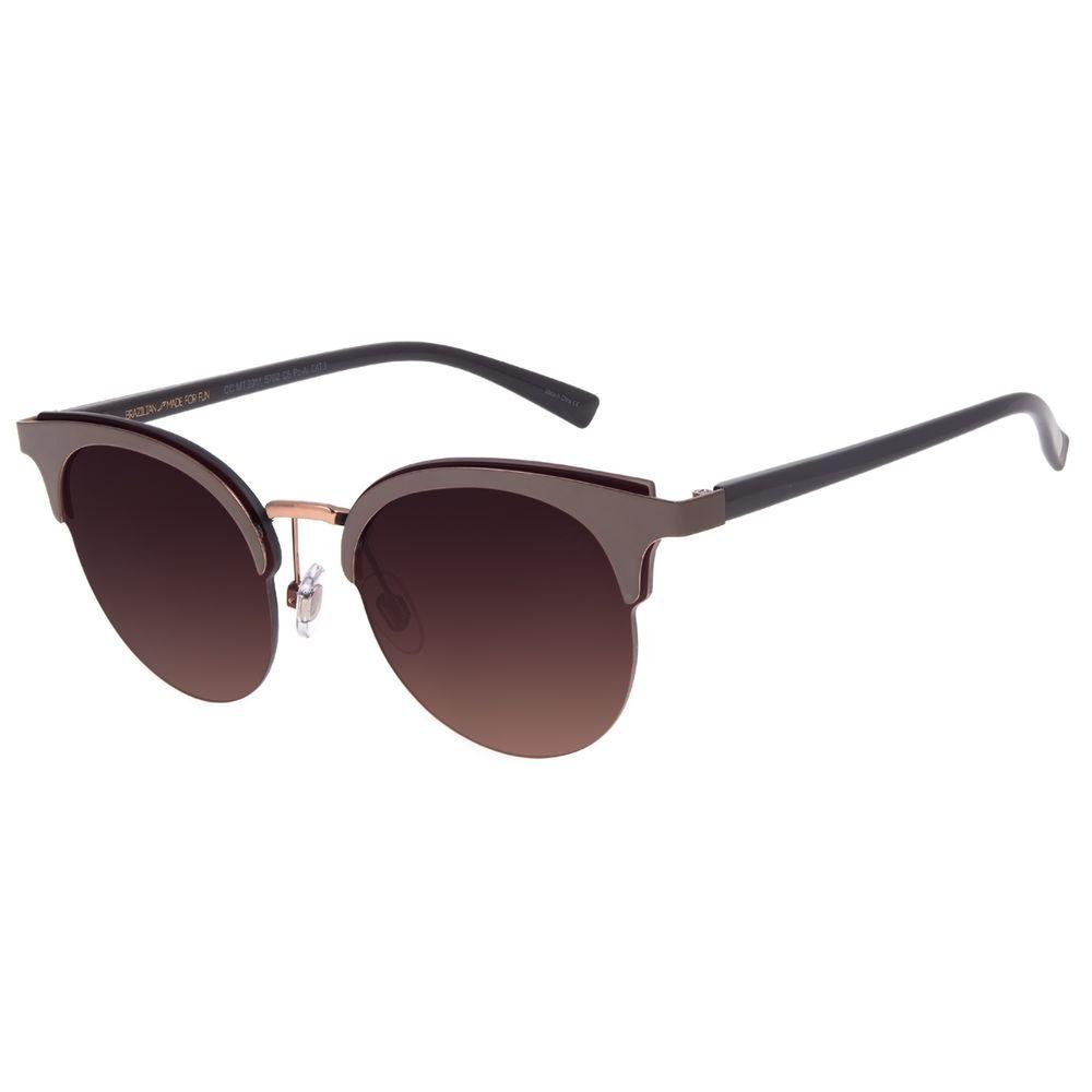 Óculos de Sol Feminino Chilli Beans Redondo Degradê Marrom OC.MT.2911-5702