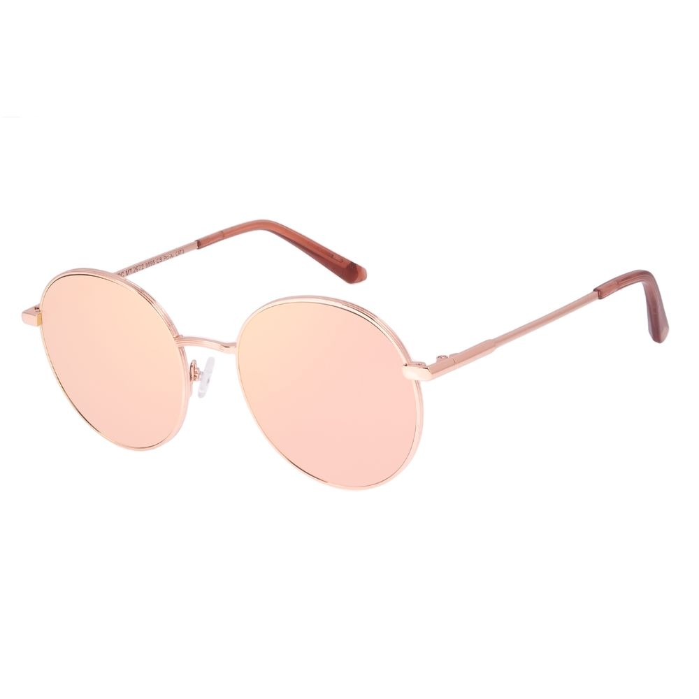Óculos de Sol Feminino Chilli Beans Redondo Banhado a Ouro Rosé OC.MT.2972-9595