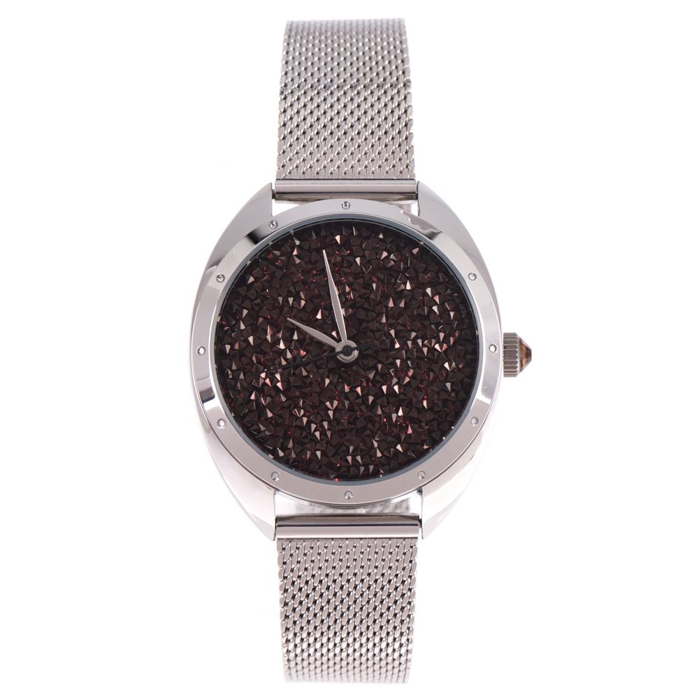 Relógio Analógico Feminino Chilli Beans Chocolate Diamonds Prata RE.MT.1126-4707