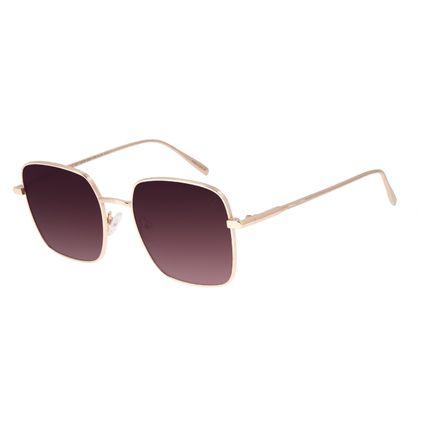 Óculos de Sol Feminino Chilli Beans Quadrado Banhado a Ouro Dourado OC.MT.2975-0321