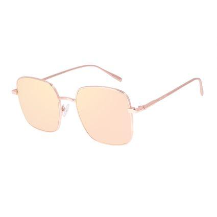 Óculos de Sol Feminino Chilli Beans Quadrado Banhado a Ouro Rosé OC.MT.2975-9595
