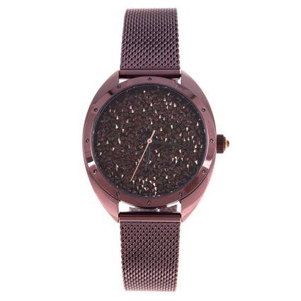 Relógio Analógico Feminino Chilli Beans Chocolate Diamonds Marrom RE.MT.1126-0202