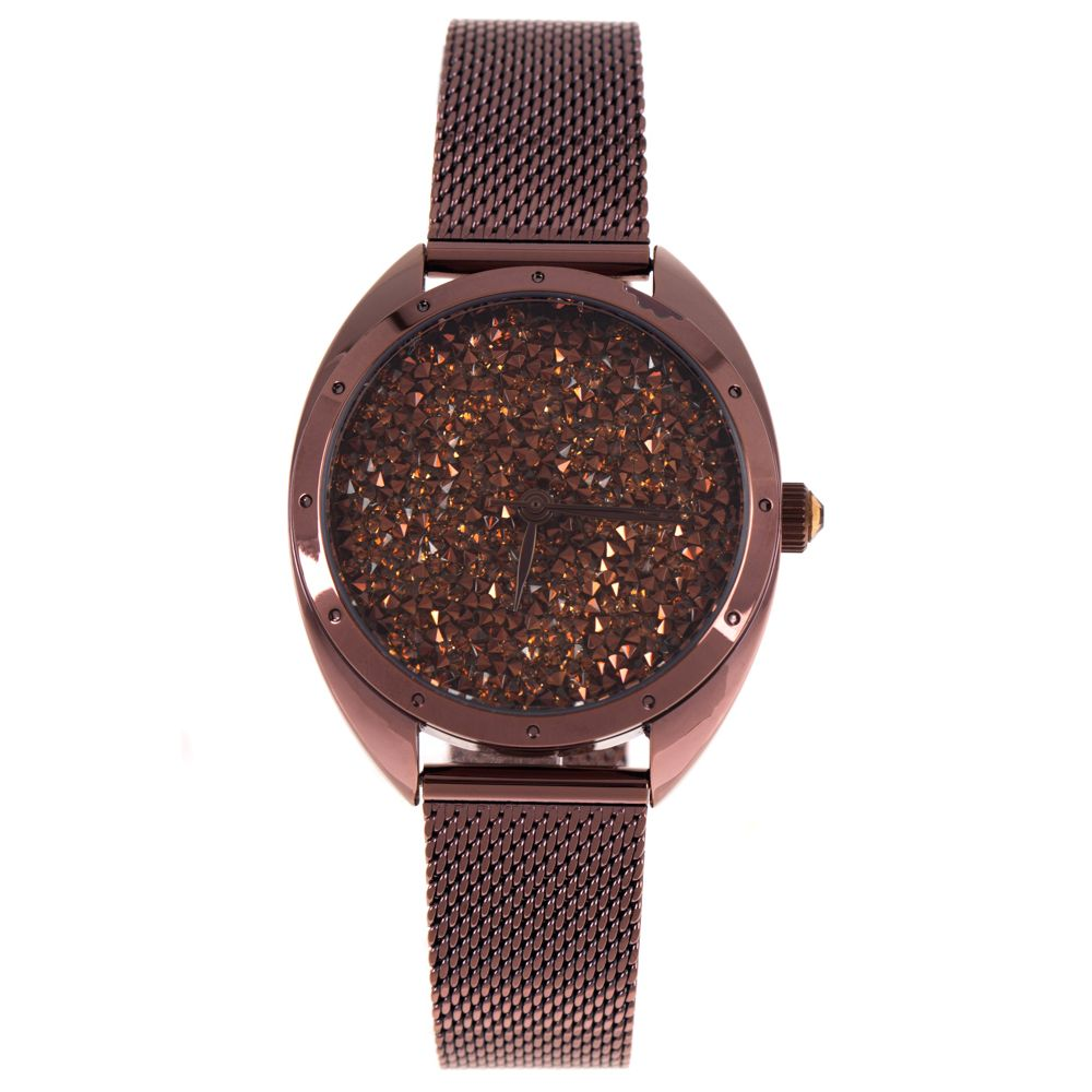 Relógio Analógico Feminino Chilli Beans Chocolate Diamonds Marrom Escuro RE.MT.1126-4747
