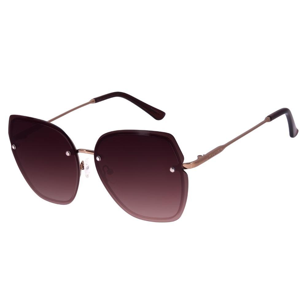 Óculos de Sol Feminino Chilli Beans Quadrado Degradê Marrom OC.MT.3006-5702