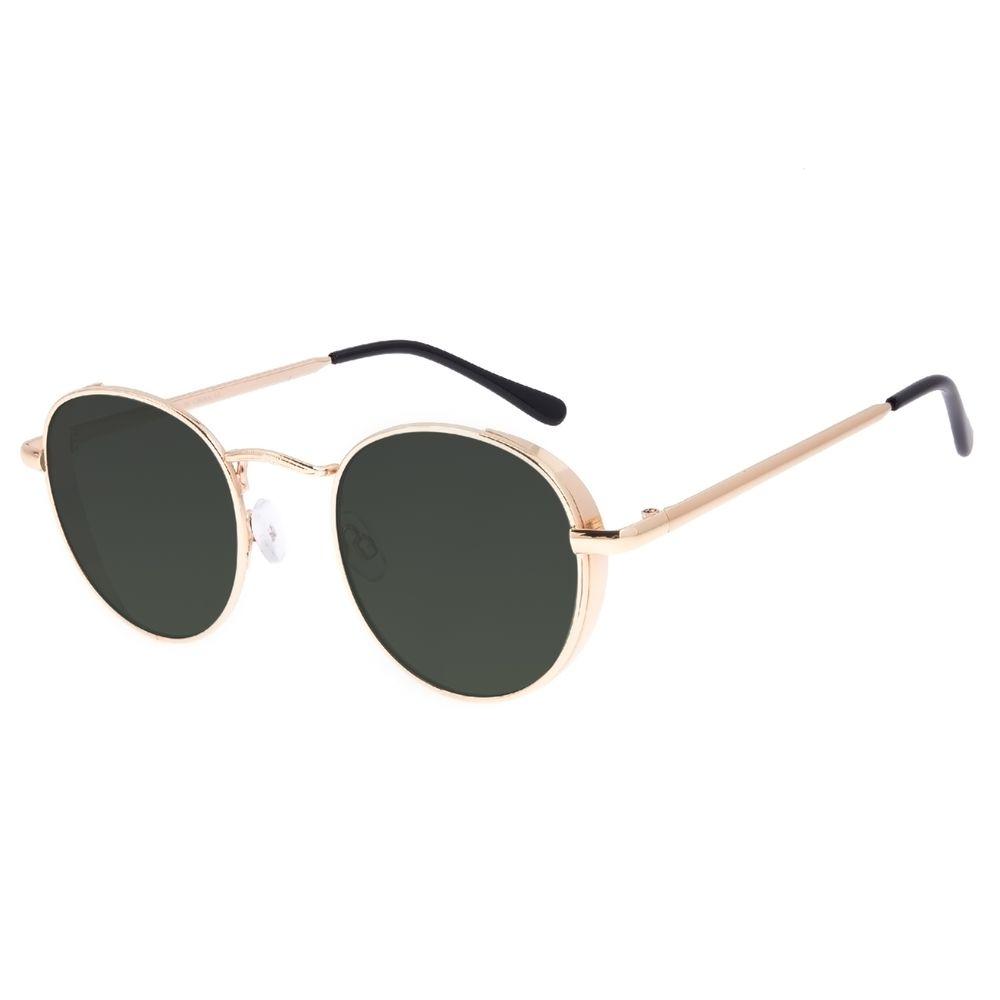 Óculos de Sol Feminino Chilli Beans Redondo Flap Dourado OC.MT.3027-1521