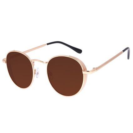 Óculos de Sol Feminino Chilli Beans Redondo Flap Degradê Marrom OC.MT.3027-5721