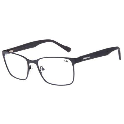 Armação Para Óculos de Grau Masculino Chilli Beans Quadrado Metal Fosco Preto LV.MT.0483-0101