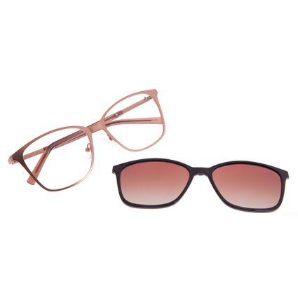Armação Para Óculos De Grau Feminino Chilli Beans Essential Multi Quadrado Marrom LV.MU.0521-5702