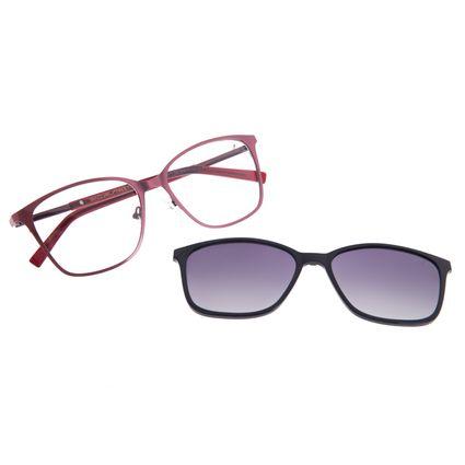 Armação Para Óculos De Grau Feminino Chilli Beans Essential Multi Quadrado Vinho LV.MU.0521-2017