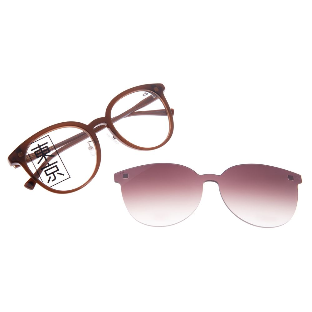 Armação Para Óculos de Grau Feminino Tokyo Sakura Multi Marrom LV.MU.0434-5702
