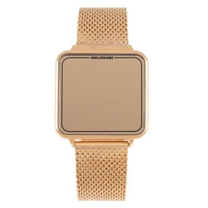 Relógio Digital Feminino Tokyo Touch Led Dourado RE.MT.1075-2121