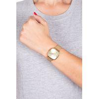Relógio Analógico Feminino Tokyo Cerejeira Metal Dourado RE.MT.1086-2121.4