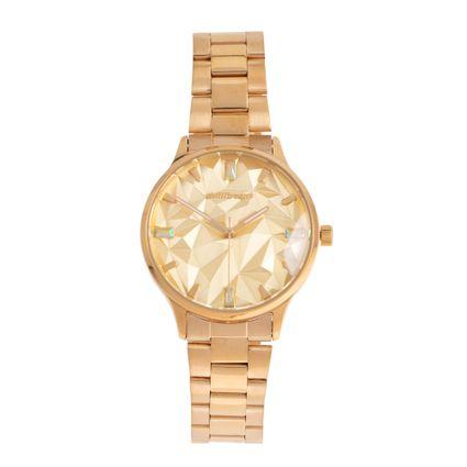 Relógio Analógico Feminino Chilli Beans Metal Escovado Dourado RE.MT.1110-2121