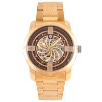 Relógio Automático Masculino A.H Circus Caveira Dourado RE.MT.1175-0221