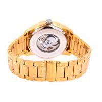 Relógio Automático Masculino A.H Circus Caveira Dourado RE.MT.1175-0221.2