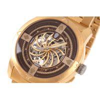 Relógio Automático Masculino A.H Circus Caveira Dourado RE.MT.1175-0221.5