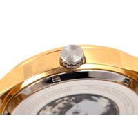 Relógio Automático Masculino A.H Circus Caveira Dourado RE.MT.1175-0221.6