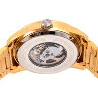 Relógio Automático Masculino A.H Circus Caveira Dourado RE.MT.1175-0221.7