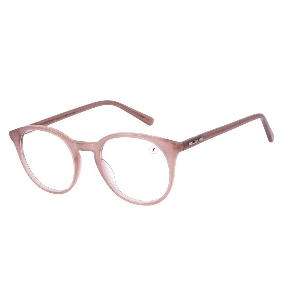 Armação Para Óculos de Grau Unissex Chilli Beans Redondo Marrom LV.AC.0692-0202