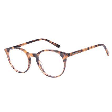 Armação Para Óculos de Grau Unissex Chilli Beans Redondo Tartaruga LV.AC.0692-0606