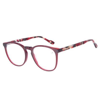 Armação Para Óculos de Grau Feminino Chilli Beans Redondo Vinho LV.AC.0704-1706