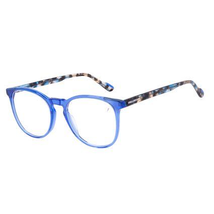 Armação Para Óculos de Grau Feminino Chilli Beans Redondo Azul LV.AC.0704-0806