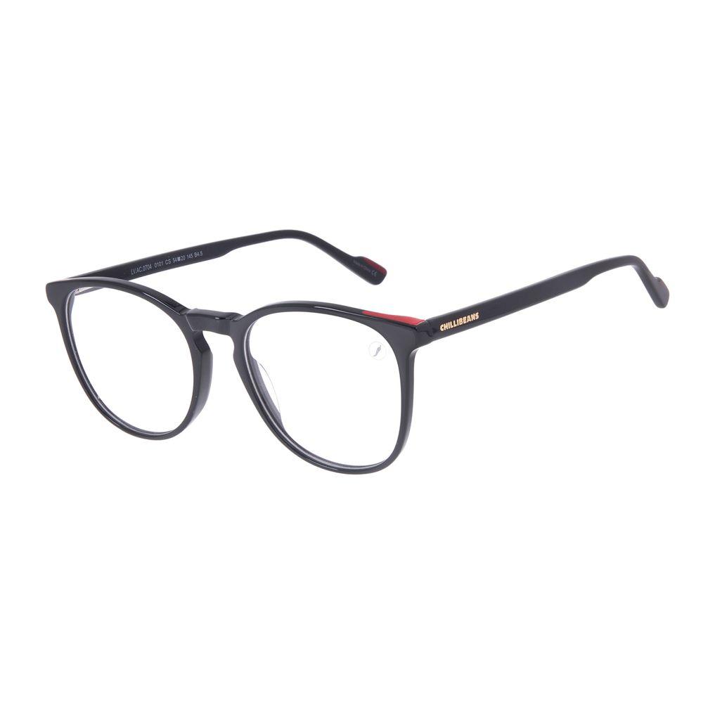 Armação Para Óculos de Grau Feminino Chilli Beans Redondo Preto LV.AC.0704-0101