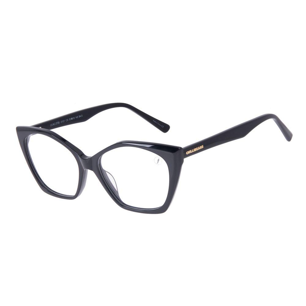 Armação Para Óculos de Grau Feminino Chilli Beans Cat Preto LV.AC.0706-0101