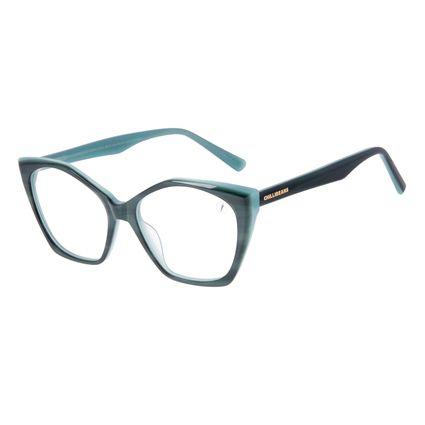 Armação Para Óculos de Grau Feminino Chilli Beans Cat Verde LV.AC.0706-1515