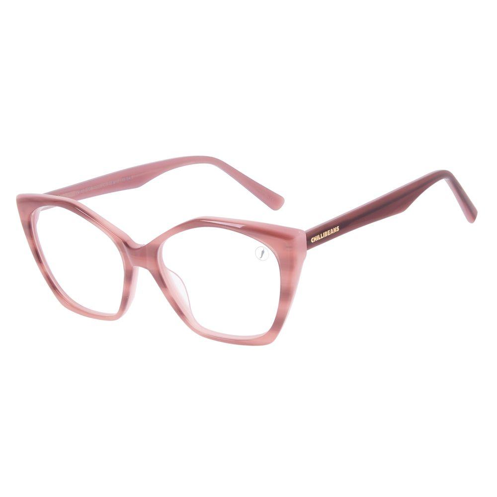 Armação Para Óculos de Grau Feminino Chilli Beans Cat Marrom LV.AC.0706-0202